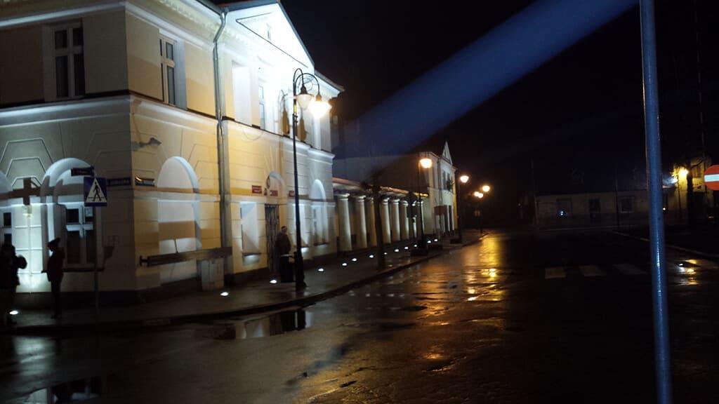 Wykonane oświeltenie budynku gminy Przedecz
