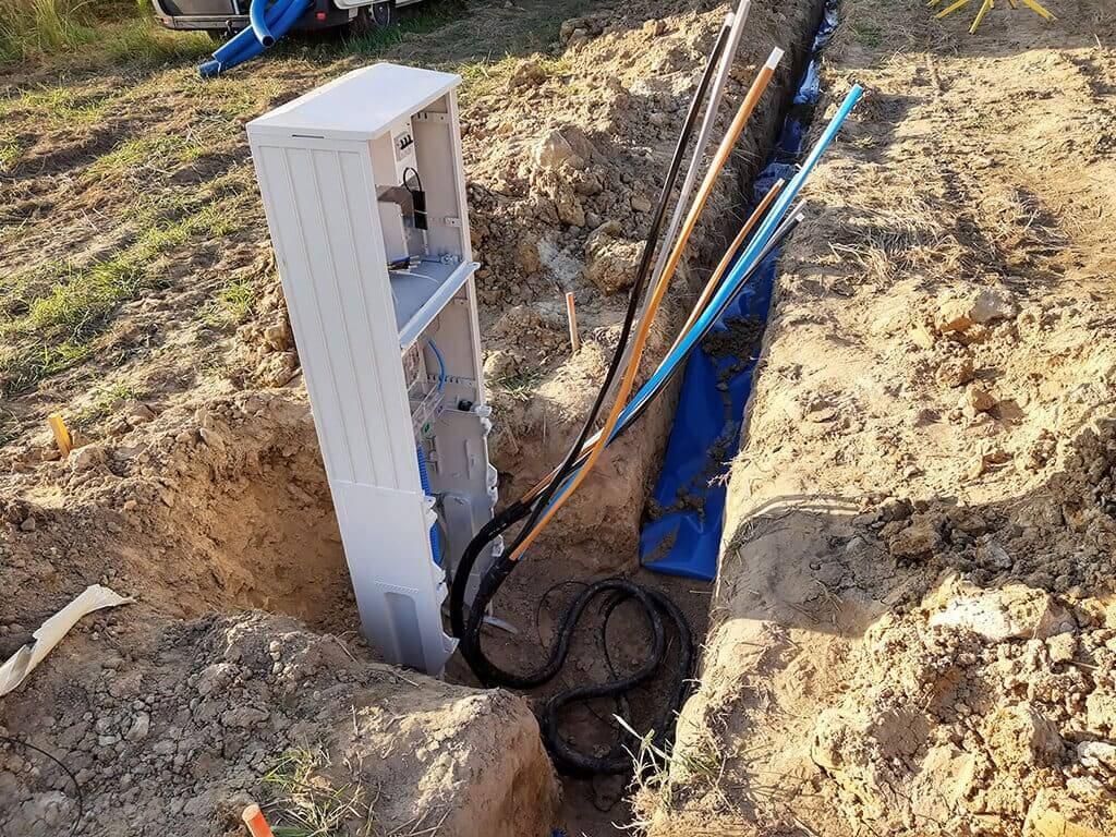 Wykopy pod przyłącze kablowe