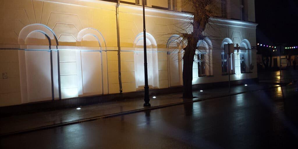 Wykonane oświetlenie budynku gminy Przedecz